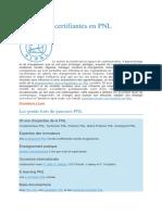 Certifiantes en PNL