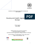HOUSING AND HEALTH REGULATIONS IN EUROPE