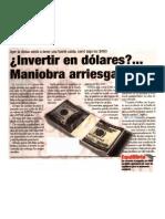 Invertir en Dolares Maniobra Arriesgada - Victor Salas