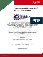 La Torre Pazos Julio Cesar Federico Orden Publico