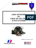 Aide Memoire Chef Section Infanterie