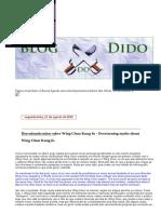Dido Derrubando Mitos Sobre Wing Chun Kung Fu - Overturning Myths About Wing Chun Kung Fu