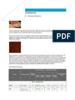 Malaysian Timber - Mechanical Properties