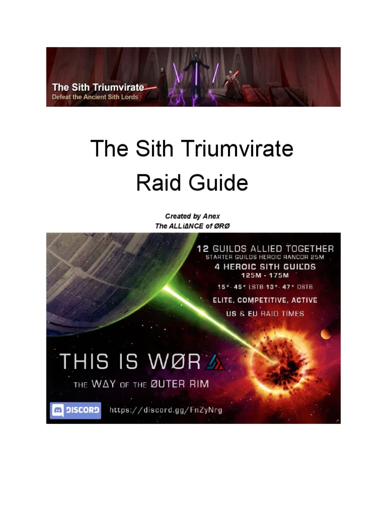 Sith Raid - Teams and Strats | Sith | Jedi