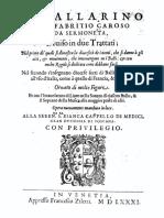 Fabritio Caroso - Il Ballarino