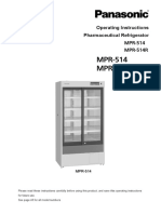 User Manual for Model MPR-514-PA MPR-514R-PA Pharmaceutical Refrigerators 1440163966