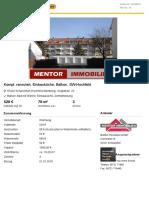 2G2DE4T Wohnung Zur Miete in Schweinfurt (Hochfeld-Steinberg)