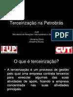 Terceirização na manutenção Petrobras.ppt