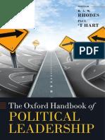 (Oxford Handbooks) R. a. W. Rhodes, Paul 't Hart-The Oxford Handbook of Political Leadership-Oxford University Press (2014)
