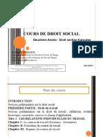 Cours Droit Social 1 2 2