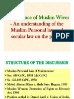 Muslim Wives' Maintenance