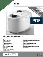 SilverCrest Bread Maker SBB 850 A1 (IB_96769_SBB850A1_LB4)