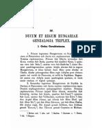 A Magyar kiralyok es hercegek geneologiaja
