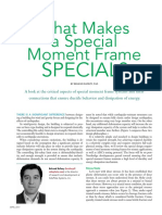 What Makes a Special Moment Frame Special