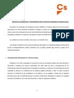 Documento conjunto de PP y CS sobre Andalucía