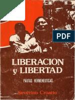 CROATTO, J. Severino (1978), Liberación y Libertad. Pautas Hermenéuticas (CEP, 1978)