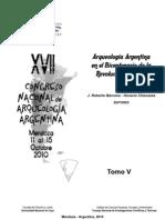 (2010) Avances en la arqueologia del area de Los Antiguos, Jeinemeni-Zeballos, Columna-Ghio (Santa Cruz, Argentina) - Guillermo L. Mengoni Goñalons, María José Figuerero Torres,  Victoria Fernández 17 CNAA 2010