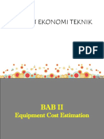 2. Equipment Cost Estimation