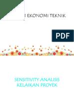 6. Sensitivity Analisis Kelayakan Proyek