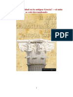 El Mito de La Homosexualidad en La Antigua Grecia