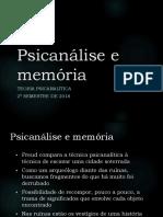 Psicanálise e Memória