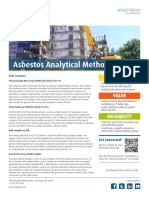 Asbestos Analytical Methods