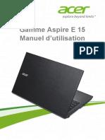Manuel Utilisation Acer E15