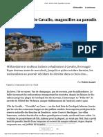 Corse - l'île de Cavallo, magouilles au paradis
