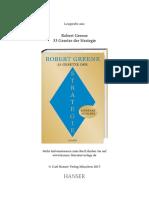Robert Greene Die 33 Gesetze Der Strategie (Leseprobe)