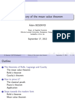 A brief history of the mean value theorem