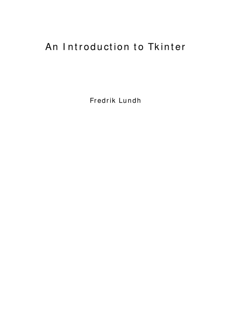 An Introduction to Tkinter | Cursor (User Interface) | Computing