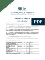 Plan de Estudios Maestria en Historia