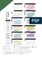 Sixth Grade Curriculum Guide Calendar