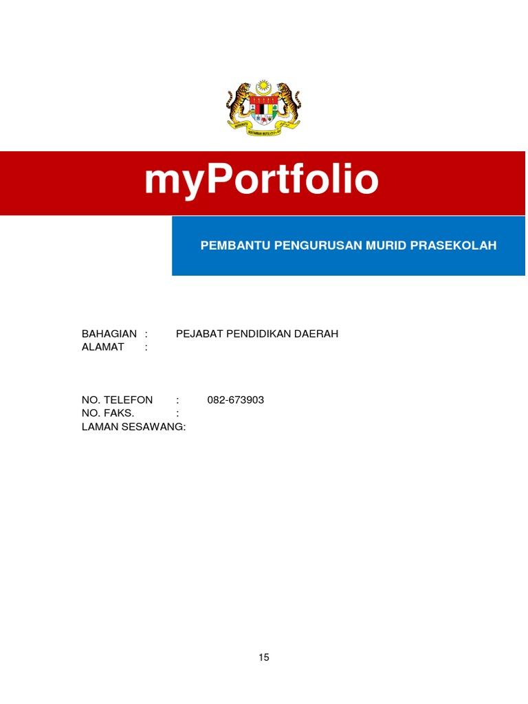 Myportfolio Ppm Prasekolah Docx