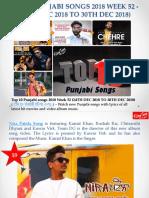 Top 10 Punjabi Songs 2018 Week 52 (24th Dec to 30th Dec 2018)