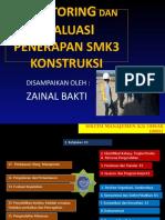 Bahan Tayang Monitoring Dan Evaluasi Penerapan SMK3 Konstruksi