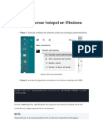 Crear Punto de Acceso Desde Windows