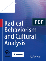 Kester Carrara - Radical Behaviorism and Cultural Analysis (2018, Springer)