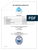 Public Administration of Dhaka WASA PAD201_MBU_NSU