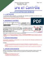 Cours Sur La Mesure Et Controle