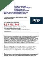 ley 445 nicaragua
