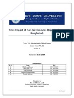 Impact of Non-Government Organization on Bangladesh POL101_KLM_NSU