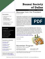 BSD Nov07 Newsletter