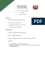 Lesson Plan for grade 7