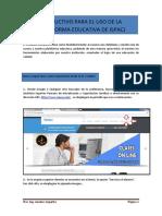 Instructivo Para El Uso de La Plataforma Educativa de Ispacj