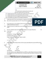 CBSE Board XII Chemistry Paper Sol