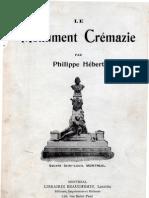 Le Monument CRÉMAZIE par Louis Philippe Hébert - Seance d'Inauguration