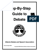 132946480 Step by Step Guide to Debate