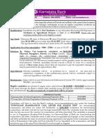 Karnataka Bank Official Notice