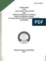 IRC 115 -2014 Strengthening of Flexible Roas Pavement Using FWD.pdf